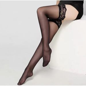 Accessories - NWT Black Thigh High Lace Top Stockings